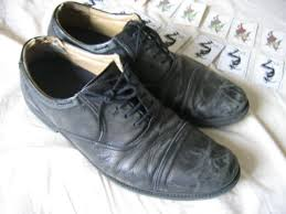 scuffed shoes